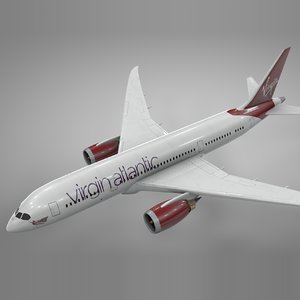 3D boeing 787 dreamliner virgin atlantic