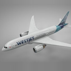 3D boeing 787 dreamliner westjet model