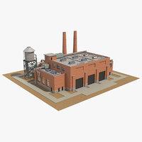 3D model factory building