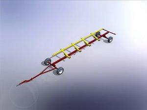 3D trolley header 30 ft