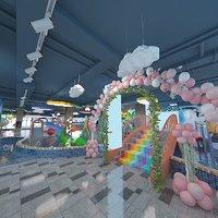 3D play ground playground model
