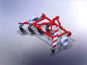 3D model subsoiler bellota