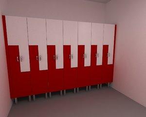 3D locker cabinet