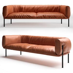 3D model sofa molinari rondo