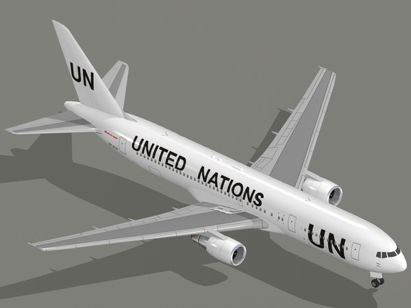 boeing 767-300 er united nations 3D model
