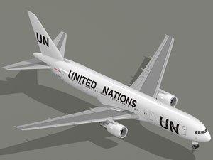 boeing 767-300 er united nations 3D model