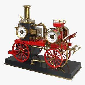 3D french engine clock