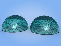 3D geodesic domes architecture