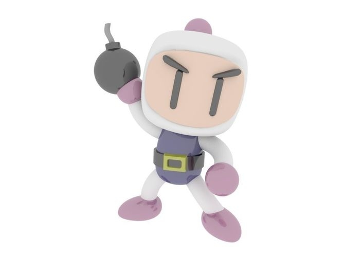 super bomberman nintendo 3D model