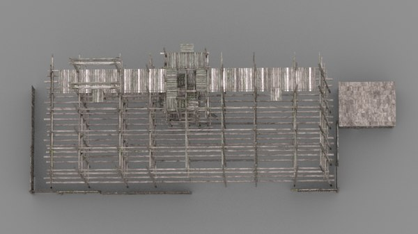 3D scaffolding wood