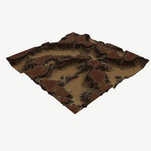 3D land landscape scape model