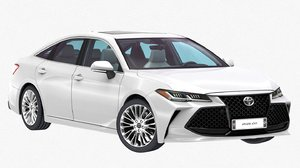 3D toyota avalon xse 2019 model