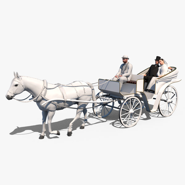 3D wedding carriage model