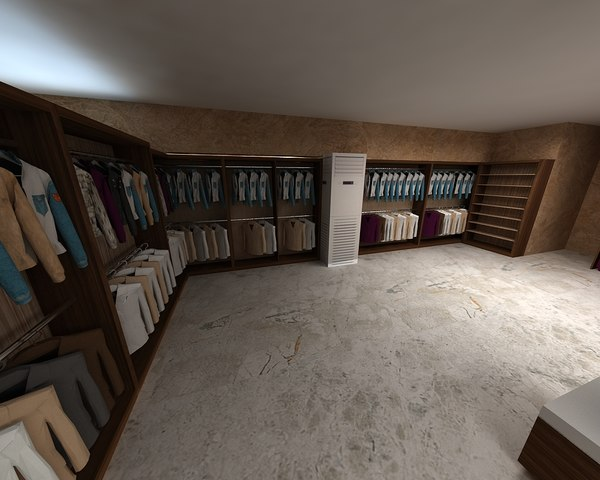 clothing store 3D