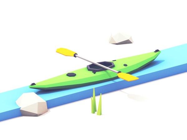 3D kayak paddle vr