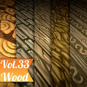 Texture Set Vol.33 Hand Painted Wood  (Stylized Texture Wood )