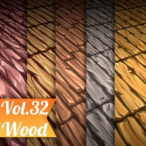 Texture Set Vol.32 Hand Painted Wood  (Stylized Texture Wood )