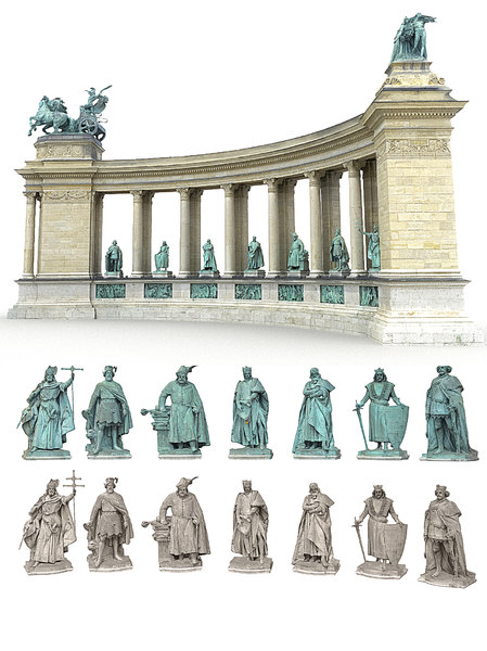 triumphal arch seven kings 3D model