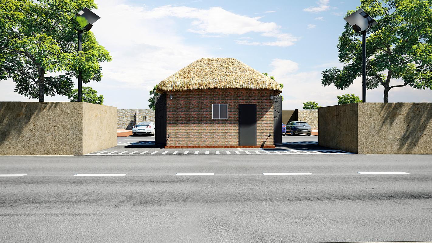 small town villa 3D model
