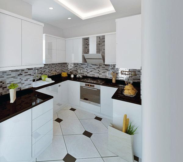small kitchen decor 3D