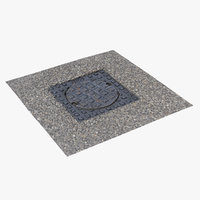 3D model utility cover 4k scan