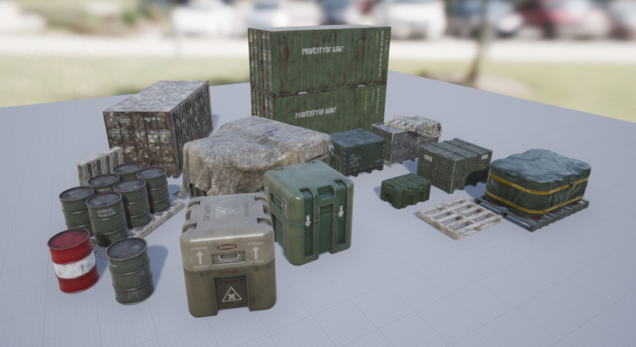 3D military containers