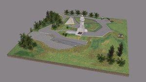 monument defenders arctic alyosha 3D model