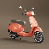 3D effectivepoly vespa scooter model