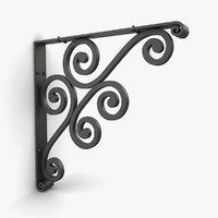 3D iron shelf bracket 05