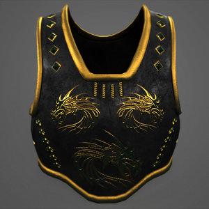 3D medieval armor