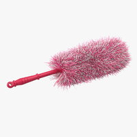dust wiper pink fur 3D model