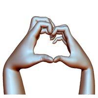 heart sign hands couple model