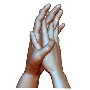 couple hands love model