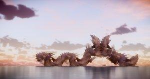 3D model fantasy architecture