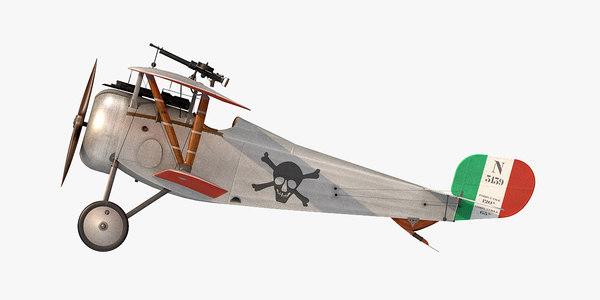 nieuport 17 ruffo 3D model