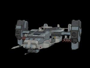 3D sci fi dropship model