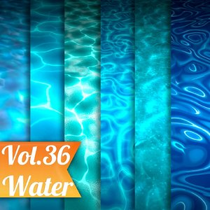 Texture Set Vol.36 Hand Painted Water  (Stylized Texture Water )