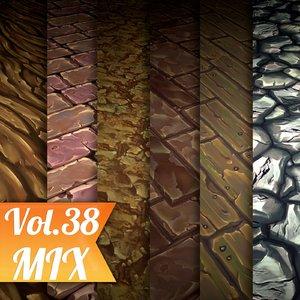 Texture Set Vol.38 Hand Painted Mix  (Stylized Texture Mix )