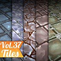 Texture Set Vol.37 Hand Painted Tiles  (Stylized Texture Tiles )