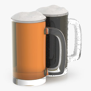 3D model beer glass