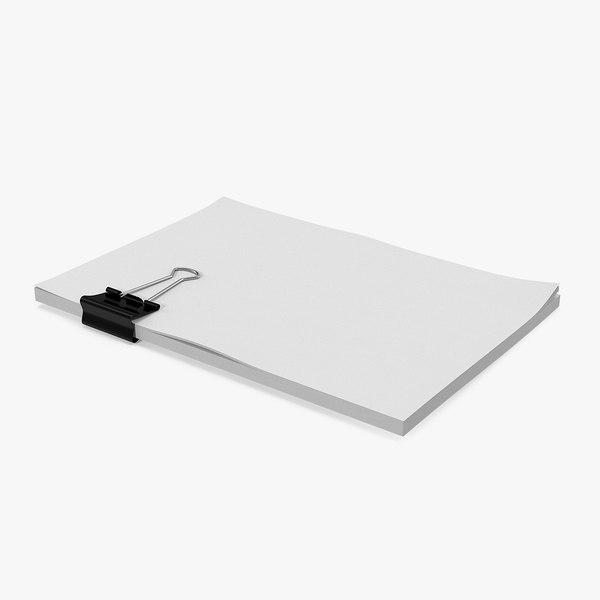3D binder a5 sheets