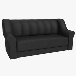 leather sofa chair 3D model