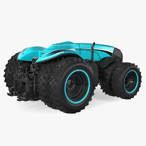 self-driving drone tractor 3D