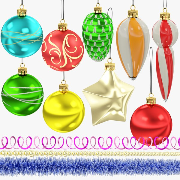 3D christmas tree decorations v2