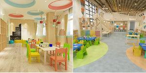 children s classroom 3D