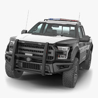 Police Pickup Truck Generic Simple Interior