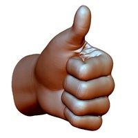 thumb hand sign gesture 3D model