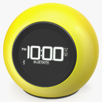 Wireless Alarm Clock FM Yellow 3D Model