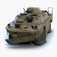 rusty brdm-2 chernobyl 3D model