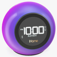 iHome iBT29 Wireless Bluetooth Phaze Clock Radio Purple 3D Model